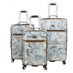 Blue Map Luggage