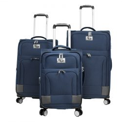 Blue and Grey Soft Case Luggage